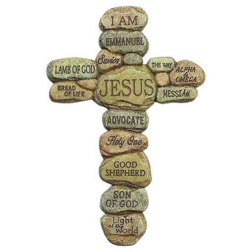Names of Jesus Resin Wall Cross