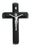 Black Wood Sick Call Crucifix