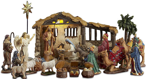 23 pc. Real Life Nativity Scene 5""