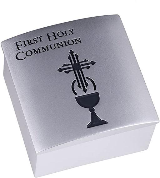 First Holy Communion Silver Tone Keepsake Box