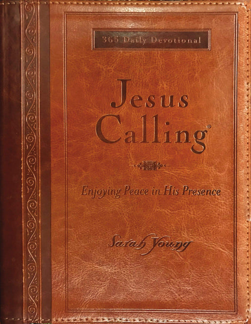 Jesus Calling (Large Print Leather w/ Full Scripture)