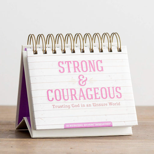 Strong & Courageous Perpetual Desk Calendar