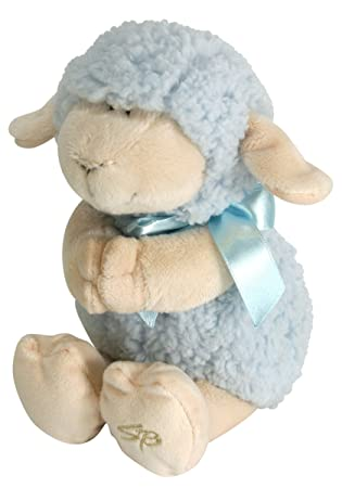 Jesus Loves Me Praying Lamb - Blue