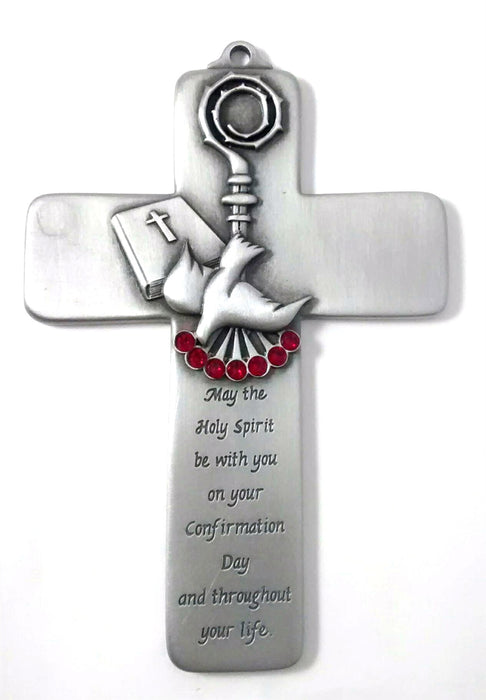 Confirmation cross w/ Holy Spirit message 5""