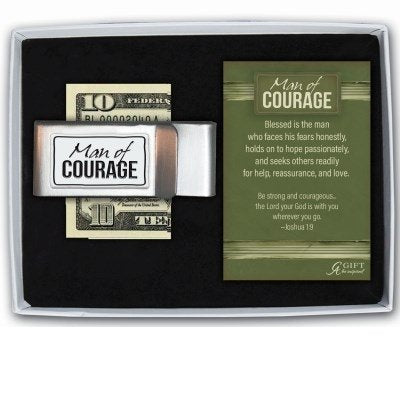 Man of Courage Money Clip