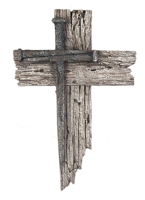 Rustic Wood & Nail Cross