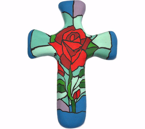 Passion of Christ Rose Comforting Clay Cross