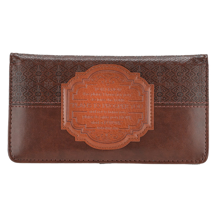 For I Know the Plans Checkbook Cover (Brown)