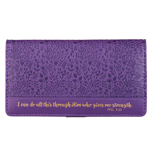 I Can Do All This Purple Checkbook Cover