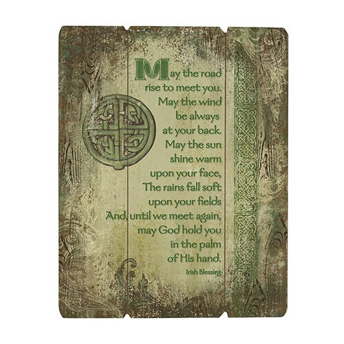 Irish Blessing Wood Panel Plaque 12x15