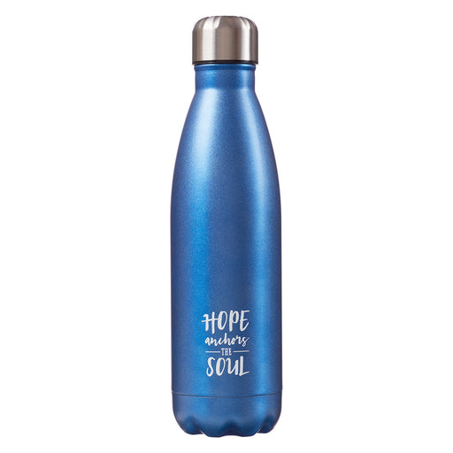 "Stainless Steel Water Bottle ""Hope Anchors the Soul"""