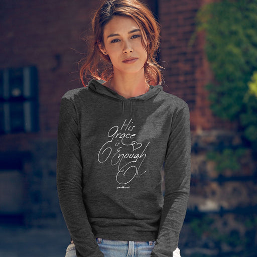 His Grace is Enough Women's Hooded T-Shirt