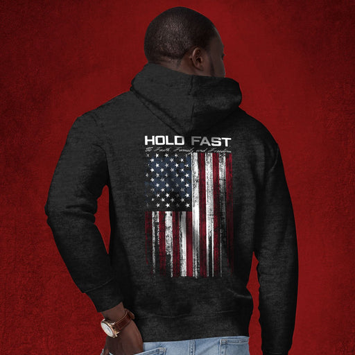 Hold Fast Men's Zipped Hooded Sweatshirt