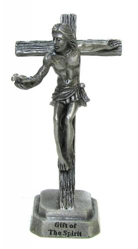 """Gift of the Spirit"" Pewter Crucifix 3.25"""