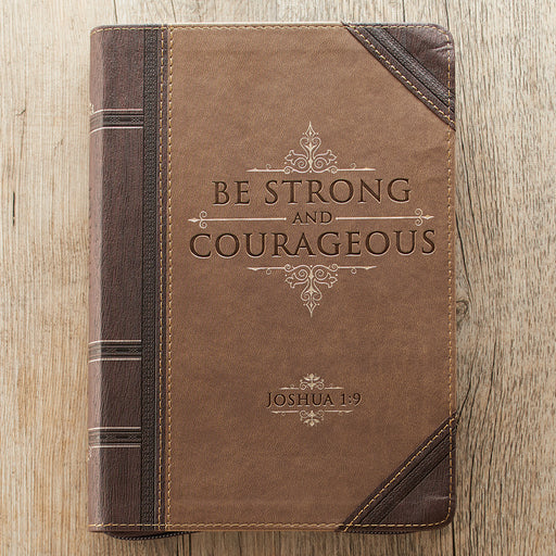Be Strong & Courageous Classic LuxLeather Journal