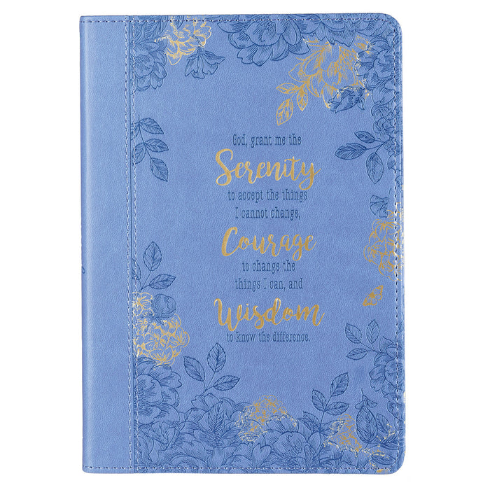 Serenity Prayer Slimline LuxLeather Journal in Blue