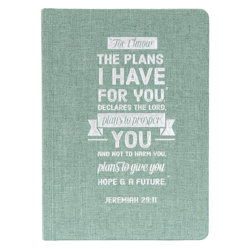 I Know the Plans Hardcover Linen Journal