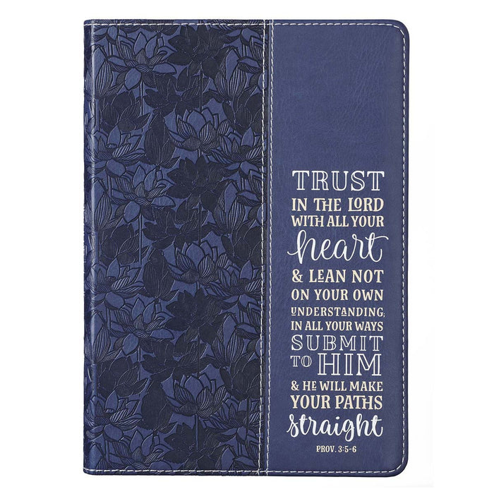 Trust in the Lord Navy Faux Leather Journal