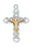 Sterling Silver Two-Tone Crucifix