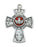 Sterling Silver Four Way Cross w/Red Enamel