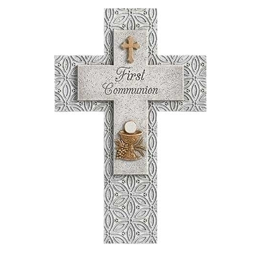 First Communion Stone Wall Cross