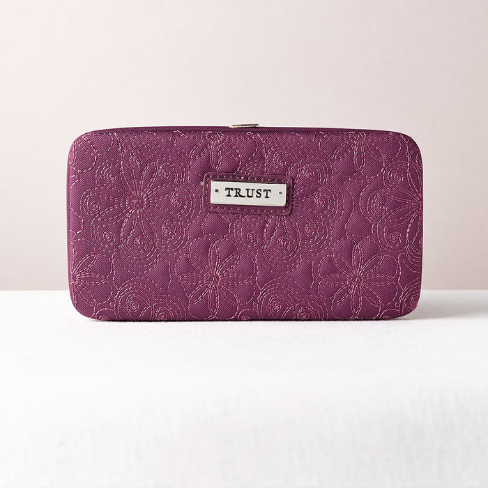 Trust Purple Embroidered Frame Wallet