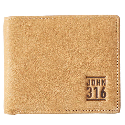 John 3:16 Tan Leather Wallet