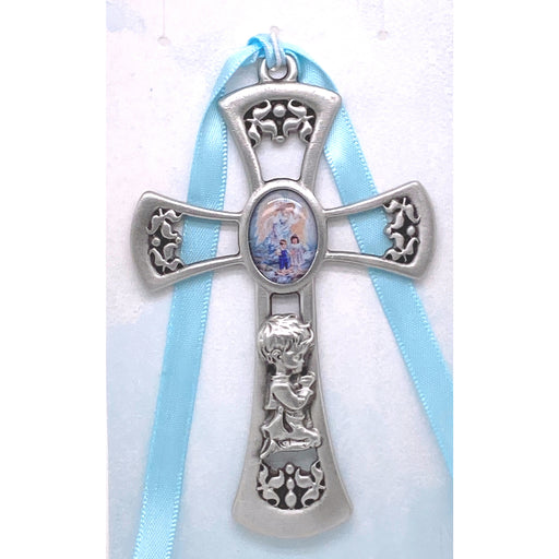 Guardian Angel Crib Cross (Blue)