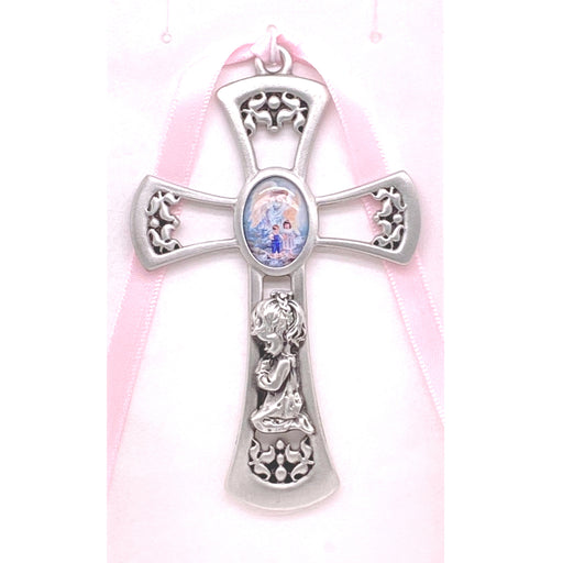 Guardian Angel Crib Cross (Pink)