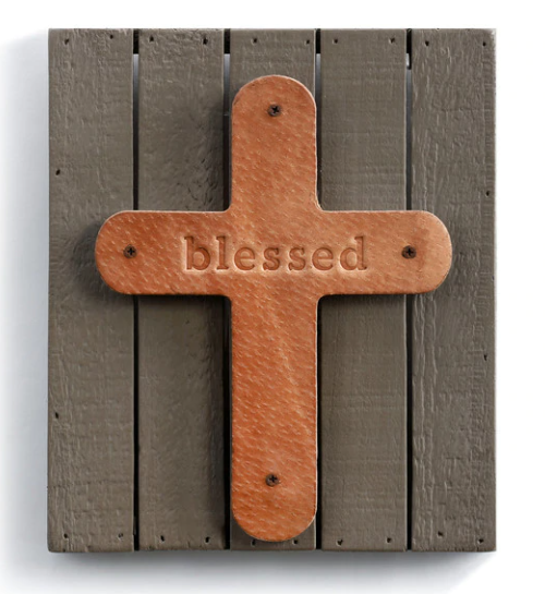 Blessed Wood Plaque w/ Cross