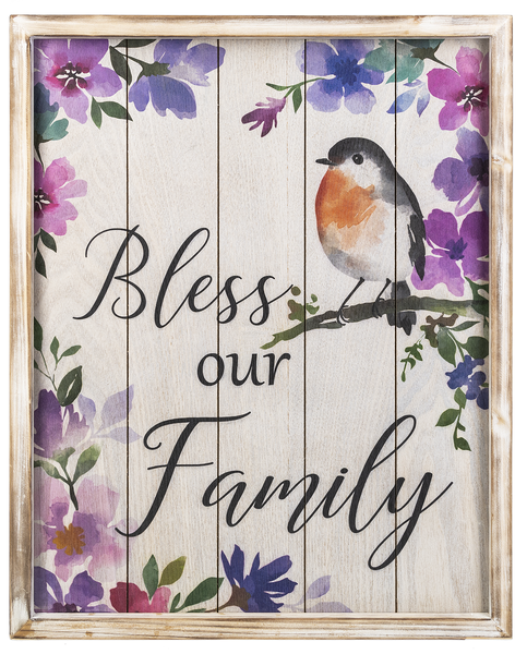 Bless Our Family Wood Plaque 15.75 x 19.5