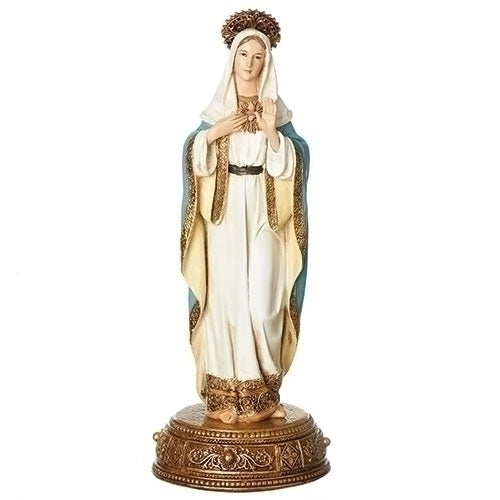 "Immaculate Heart of Mary 10.5"" statue w/drawer"