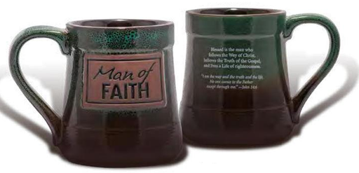 Man of Faith Pottery Mug