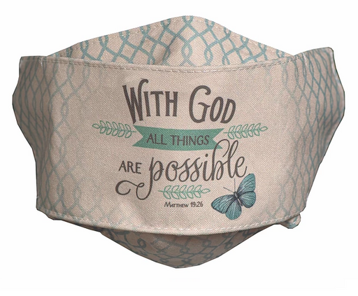 "With God All Things Are Possible ""Easy Breather"" Face Mask"