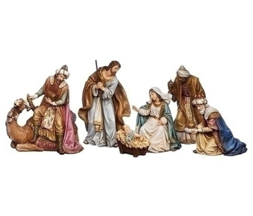 6 pc. Nativity Scene with Three Kings