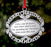 Merry Christmas from Heaven Ornament - Silver