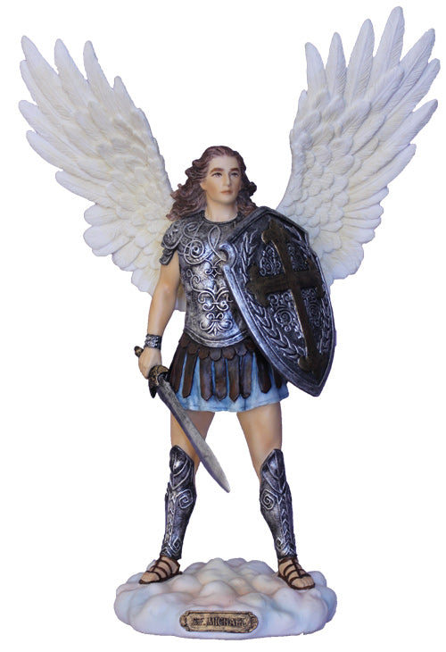 "St. Michael 11"" Statue (Full Color)"