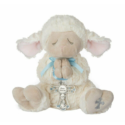 Serenity Lamb with Crib Cross (Boy)
