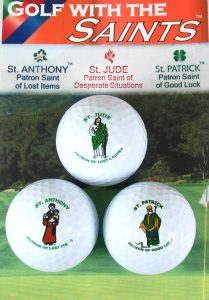 Golf With the Saints Set of 3 (St. Anthony, St. Jude, and St. Patrick)