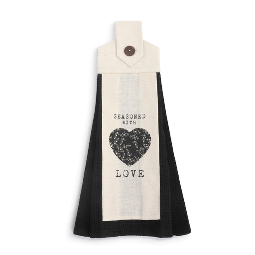 Seasoned With Love Button Loop Tea Towel