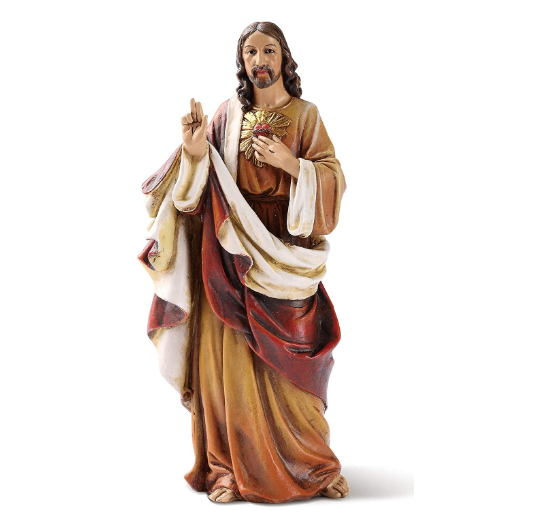 Sacred Heart of Jesus statue 6.25""