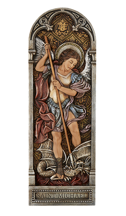 St. Michael Plaque 12""