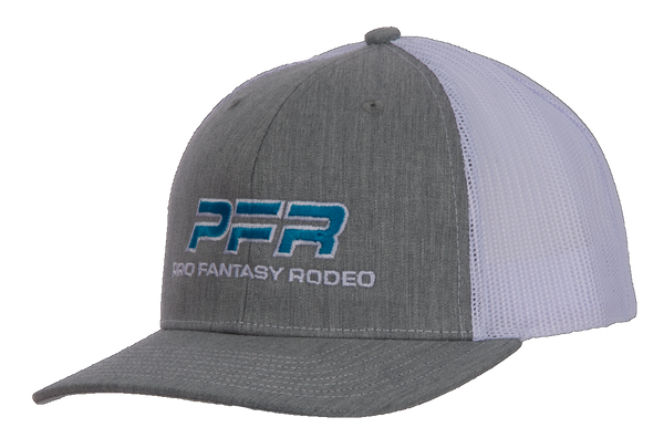 PFR Azure Blue Logo on Heather Gray