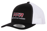 PFR Black with White Mesh Red Logo