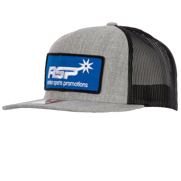 RSP Patch Heather Gray with Black Mesh Flat Bill