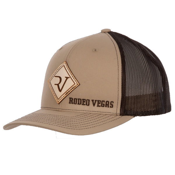 RV Leather Khaki with Brown Mesh