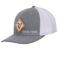 RV Leather patch Heather Gray with White Mesh