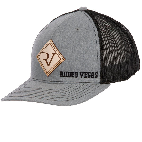 RV Leather Heather Gray with Black Mesh
