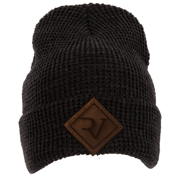 RV Leather Patch Beanie