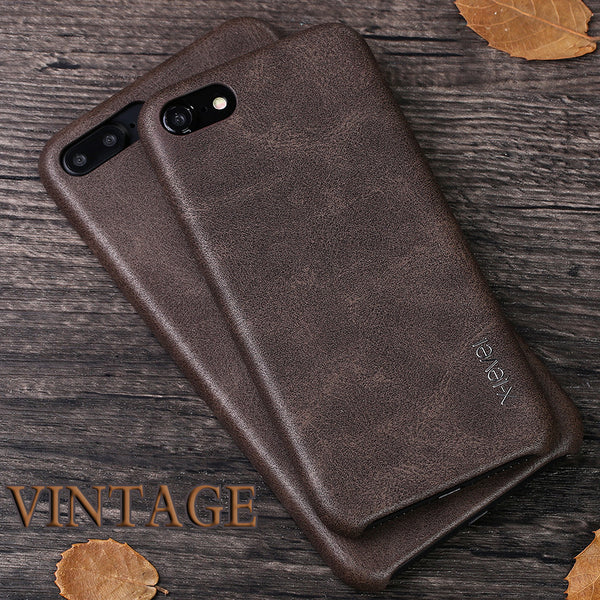 iPhone 7 and Up Smooth Vintage Leather Back Case